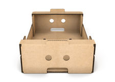 Cardboard box close-up Royalty Free Stock Images