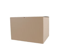 Cardboard box closed Royalty Free Stock Photos