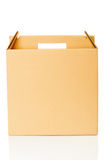 Cardboard box closeup Royalty Free Stock Photography