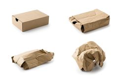 Cardboard box collection Royalty Free Stock Photography