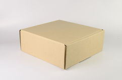 Cardboard box. For delivery packaging royalty free stock image