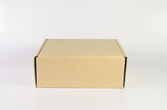 Cardboard box. For delivery packaging stock images