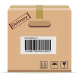 Cardboard Box for delivery Stock Photography