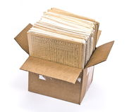 Cardboard box of document Royalty Free Stock Photos