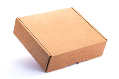 Cardboard Box. Empty Cardboard Box isolated on a White background Royalty Free Stock Photography