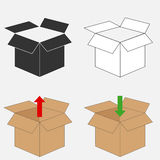 Cardboard box. Flat design, vector illustration, vector vector illustration