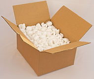 Cardboard box with foam packing. Stock Photography