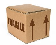 Cardboard  box - fragile moving Stock Image