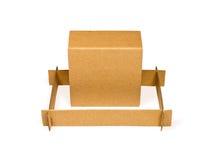 Cardboard box in frame Stock Image