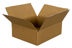Cardboard Box For Freight and Shipping Isolated stock image