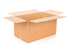 Cardboard box. Front View. Royalty Free Stock Photos