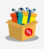 Cardboard box gift boxes discount Royalty Free Stock Photo