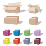 Cardboard Box - gift or move Royalty Free Stock Images