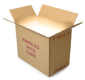 Cardboard box glow Stock Images