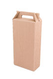 Cardboard box with handle. Isolated Royalty Free Illustration