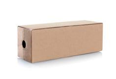 Cardboard box with handle Stock Photos
