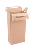 Cardboard box with handle. Open Royalty Free Illustration