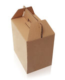 Cardboard box with handle Stock Photography