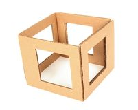 Cardboard box with holes Stock Image