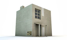 Cardboard box house Royalty Free Stock Images