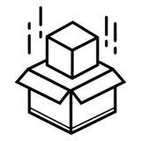 Cardboard box icon royalty free illustration