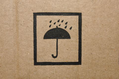 Cardboard box icon. Icon of a cardboard box stock images