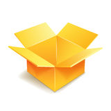 Cardboard box icon. Royalty Free Stock Photos