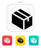 Cardboard box icon. Vector illustration stock illustration