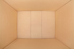 Cardboard box, inside view Royalty Free Stock Image