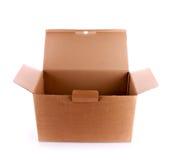Cardboard box isolated Royalty Free Stock Photos