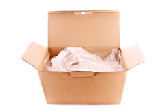 Cardboard box isolated Royalty Free Stock Photography