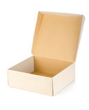 Cardboard box isolated Stock Images