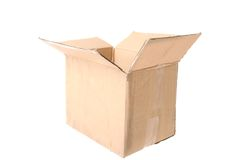 Cardboard Box isolated Stock Photo