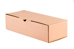 Cardboard box. Isolated in white Stock Illustration