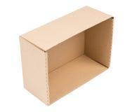 Cardboard box isolated Stock Image