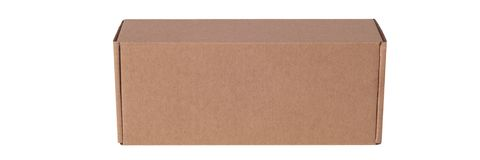 Cardboard box isolated on a white background. stock photos