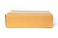 Cardboard box isolated on white background. Cardboard box container deliver and moving in isolated Royalty Free Stock Images