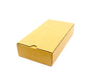 A cardboard box isolated on a white Royalty Free Stock Photography