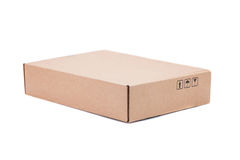 Cardboard Box isolated on a White background Stock Images