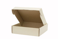 Cardboard box, isolated on white background Royalty Free Stock Photography