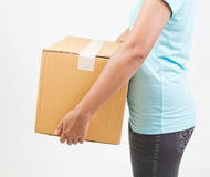 Cardboard box isolated. On a white background Stock Photography