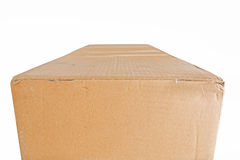 Cardboard box isolated on white background Stock Images