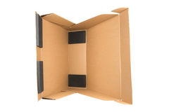 Cardboard box isolated on white background Stock Photos