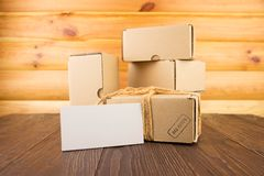 Cardboard box isolated Royalty Free Stock Images