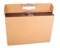 Cardboard Box for Laptop Computer Royalty Free Stock Image
