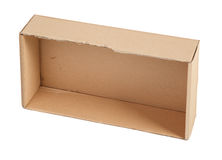 Cardboard box without a lid Stock Photos