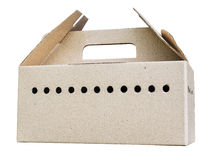 Cardboard box with many holes for air ventilation Royalty Free Stock Photo
