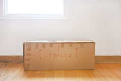 "Cardboard box marked ""fragile"" Royalty Free Stock Photo"