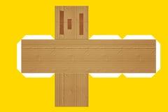 Cardboard box mock up. A flat cut for building a cardboard box - Mock up royalty free illustration