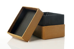 CardBoard Box for Mockup - Recycled Paper on white Royalty Free Stock Images